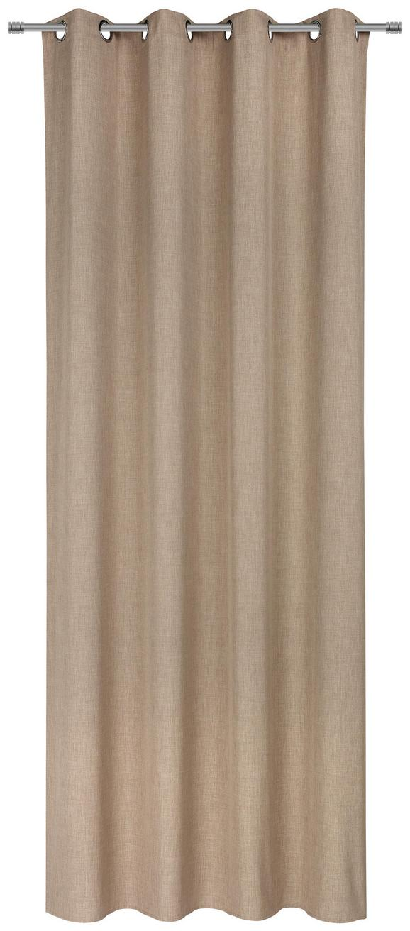 Ösenvorhang Ulli Sandfarben 140x245cm - Sandfarben, Textil (140/245cm) - Mömax modern living