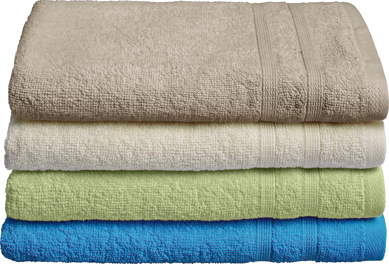 Handtuch Uschi in verschiedenen Farben - Türkis/Creme, Textil (50/100cm) - MÖMAX modern living
