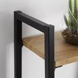 Regal aus Metall/Holz 'Giorgia' - Schwarz/Naturfarben, MODERN, Holz/Metall (60/148/32cm) - Bessagi Home