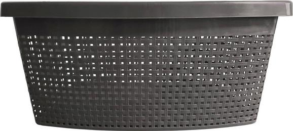 Wäschekorb Rita Anthrazit - Anthrazit, Kunststoff (60/40/22cm) - Mömax modern living