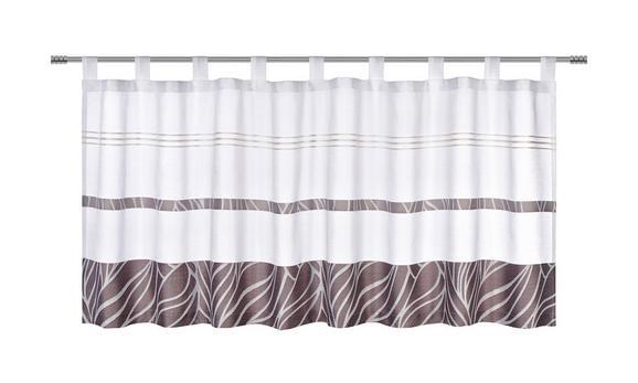 Kurzgardine Anita Grau ca. 50x145cm - Grau, KONVENTIONELL, Textil (50/145cm) - Mömax modern living