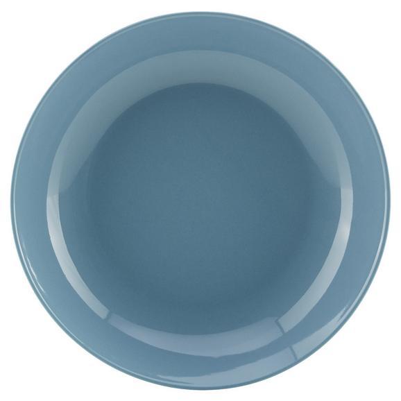 Farfurie Adâncă Sandy - albastru, Konventionell, ceramică (20/3,5cm) - Modern Living