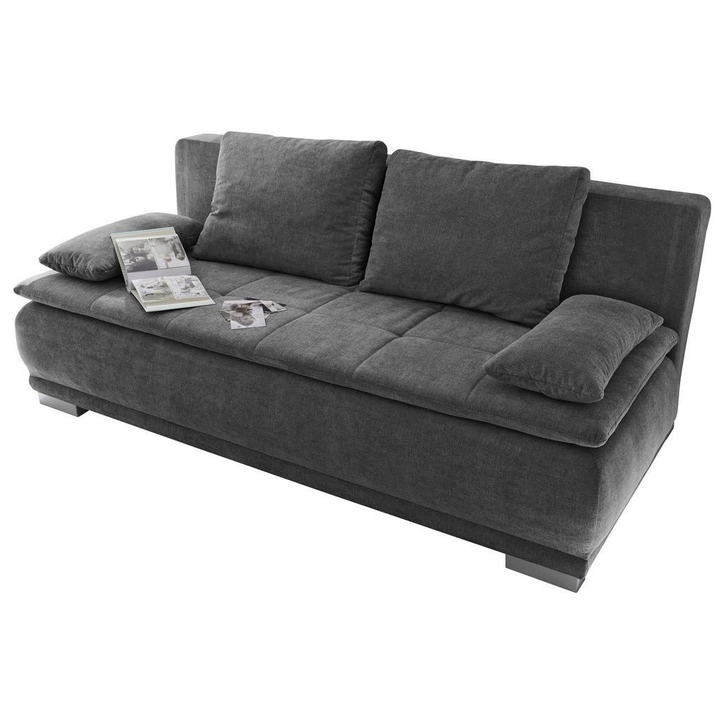 Sofa mit Schlaffunktion in Dunkelgrau 'Luigi LUX.3DL'