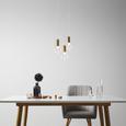 Pendelleuchte Gian 3-flammig - Klar, MODERN, Glas (28/120/28cm) - Modern Living