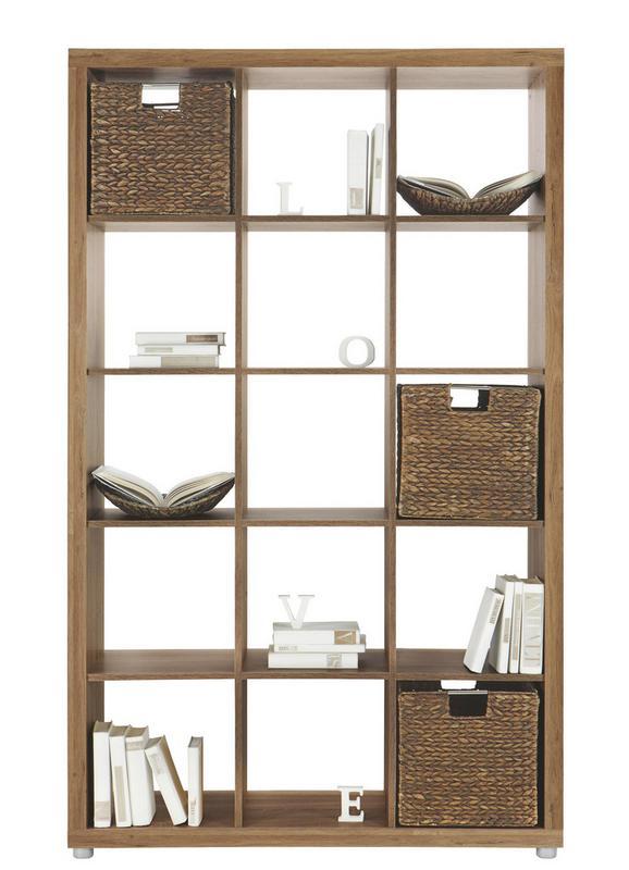 Predelna Stena Aron - aluminij/hrast, umetna masa/leseni material (117/193/35cm)
