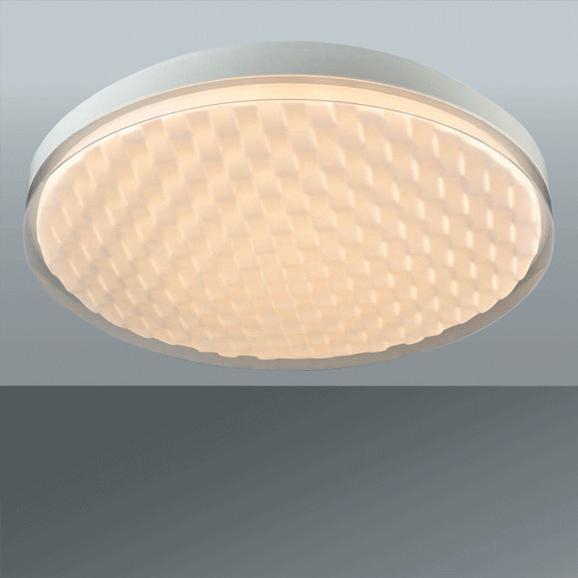Stropna Led-svetilka Oliver - bela, Romantika, kovina/umetna masa (50/7,5cm) - Premium Living