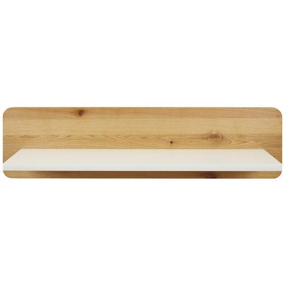Wandboard Weiß/Natur - Naturfarben/Weiß, MODERN, Holz/Holzwerkstoff (120/30/25cm) - Modern Living