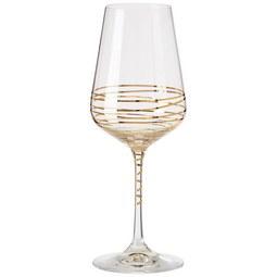 Weißweinglas Elegance ca. 350ml - Klar/Goldfarben, MODERN, Glas (0,35l) - Bohemia