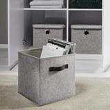Aufbewahrungsbox Rikka - Grau, MODERN, Textil (27/27/28cm) - Mömax modern living