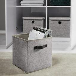 Box Rikka - Grau, MODERN, Textil (27/27/28cm) - Mömax modern living