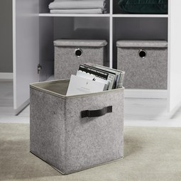 Box Rikka Rikka - Grau, MODERN, Textil (27/27/28cm) - Mömax modern living