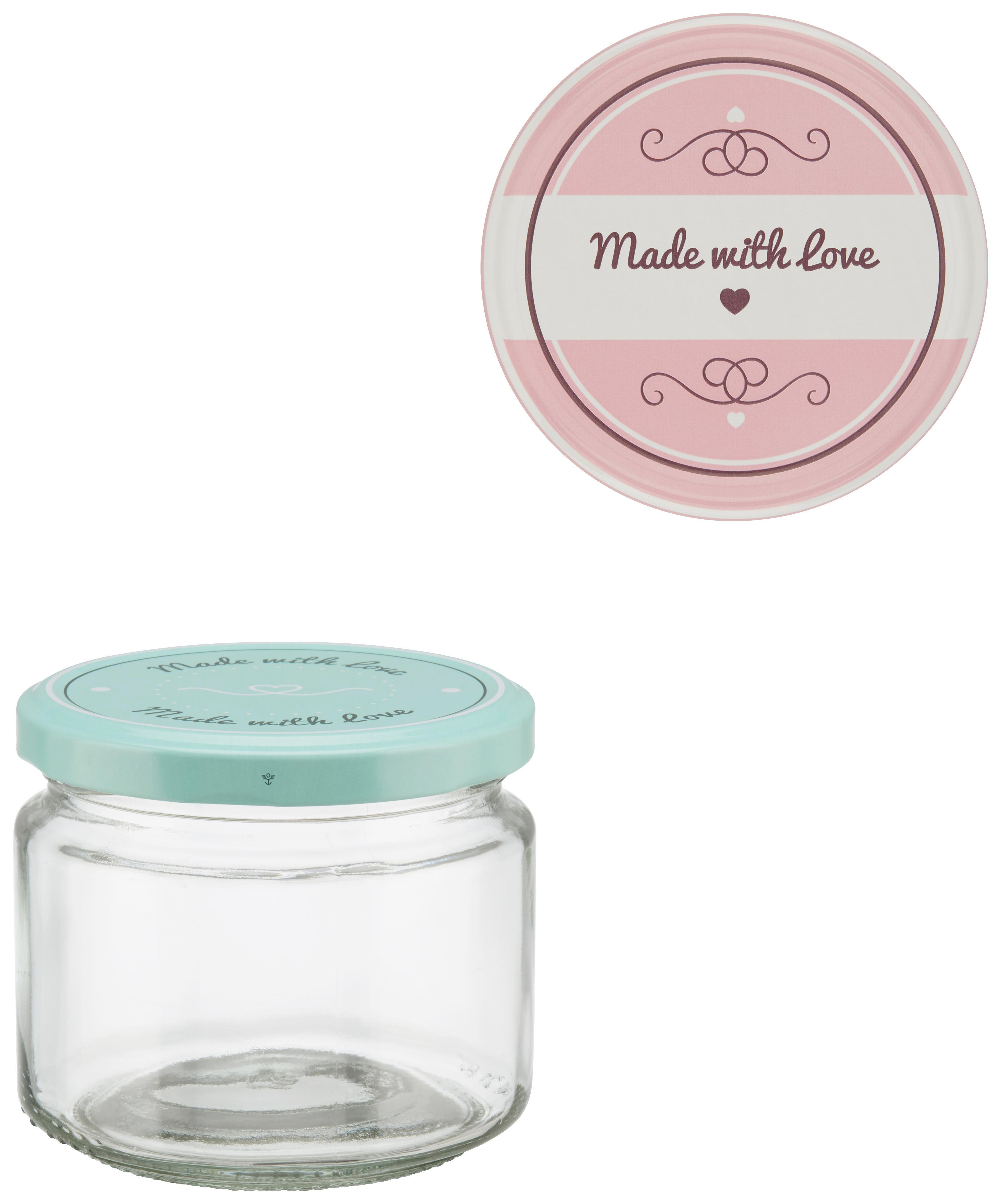 Einmachglas Rosie in verschiedenen Farben - Klar/Rosa, Glas (86/75cm)