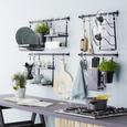 Suport Rolă De Bucătărie Chester - negru, metal (29,2/34,7/14,2cm) - Premium Living