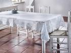 Tischdecke Constance ca.220x130cm - Weiß, KONVENTIONELL, Textil (220/130cm) - Mömax modern living