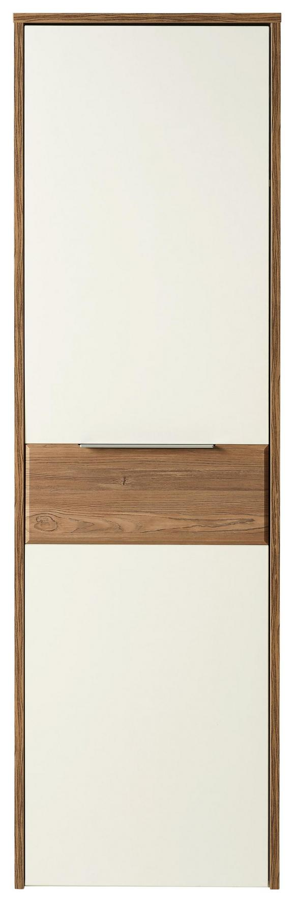 Garderobenschrank Weiß/Kiefer - Alufarben/Weiß, MODERN, Holzwerkstoff/Kunststoff (60/196/42cm)