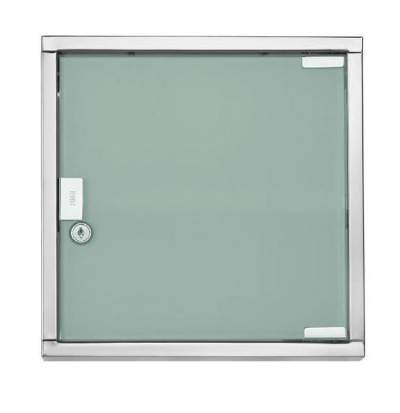 Medizinschrank in Edelstahlfarben - Edelstahlfarben, Glas/Metall (30/30/12cm) - MÖMAX modern living