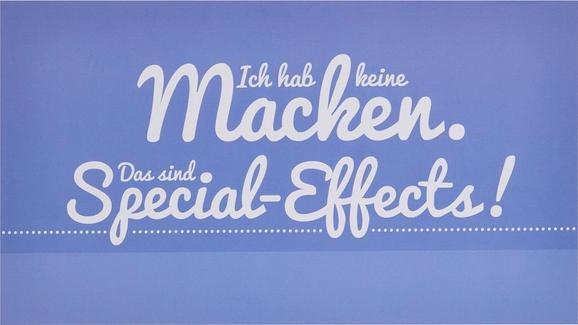 Dekopaneel Sarah, 27x15x1,1cm - Blau/Weiß, MODERN, Holzwerkstoff (27/15/1,1cm) - Mömax modern living