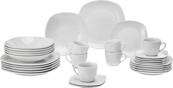 Kombiservice Sally aus Porzellan in Weiß - Weiß, KONVENTIONELL, Keramik - MÖMAX modern living