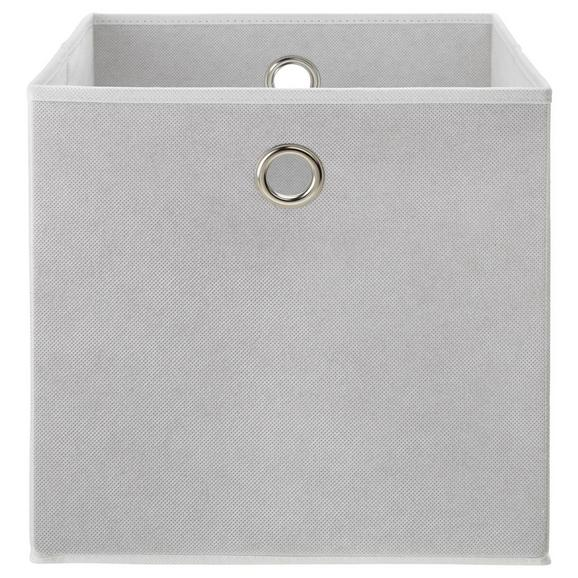 Faltbox Fibi in Weiß - Weiß, MODERN, Karton/Textil (30/30/30cm) - Based