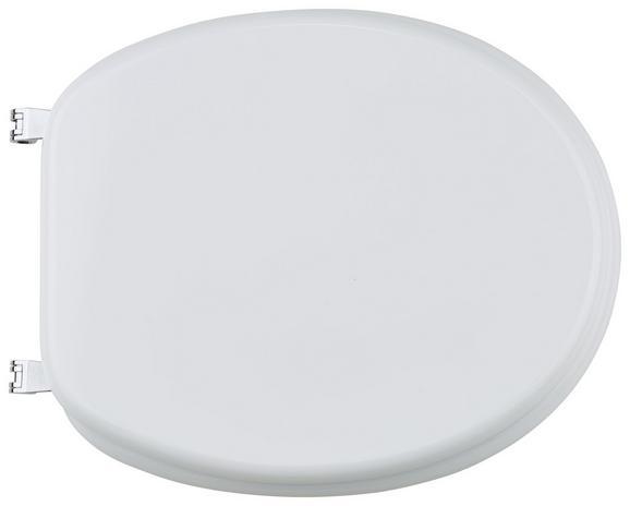 Deska Za Wc-školjko Samodejno Zapiranje -sb- - bela, umetna masa (48.5/37.5/5.5cm)
