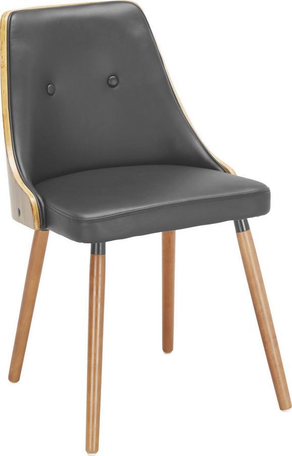 Stuhl Adrian - Schwarz, Holz/Textil (42/79,5/48cm) - premium living