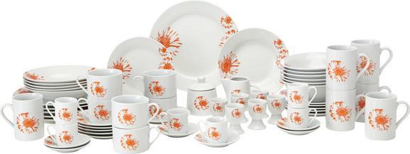 Kombiservice Gabi in Weiß 62-teilig - Orange/Weiß, Keramik - MÖMAX modern living