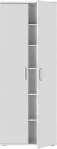 Mehrzweckschrank in Weiß - Alufarben/Weiß, MODERN, Holzwerkstoff/Kunststoff (70/179/34cm) - Mömax modern living