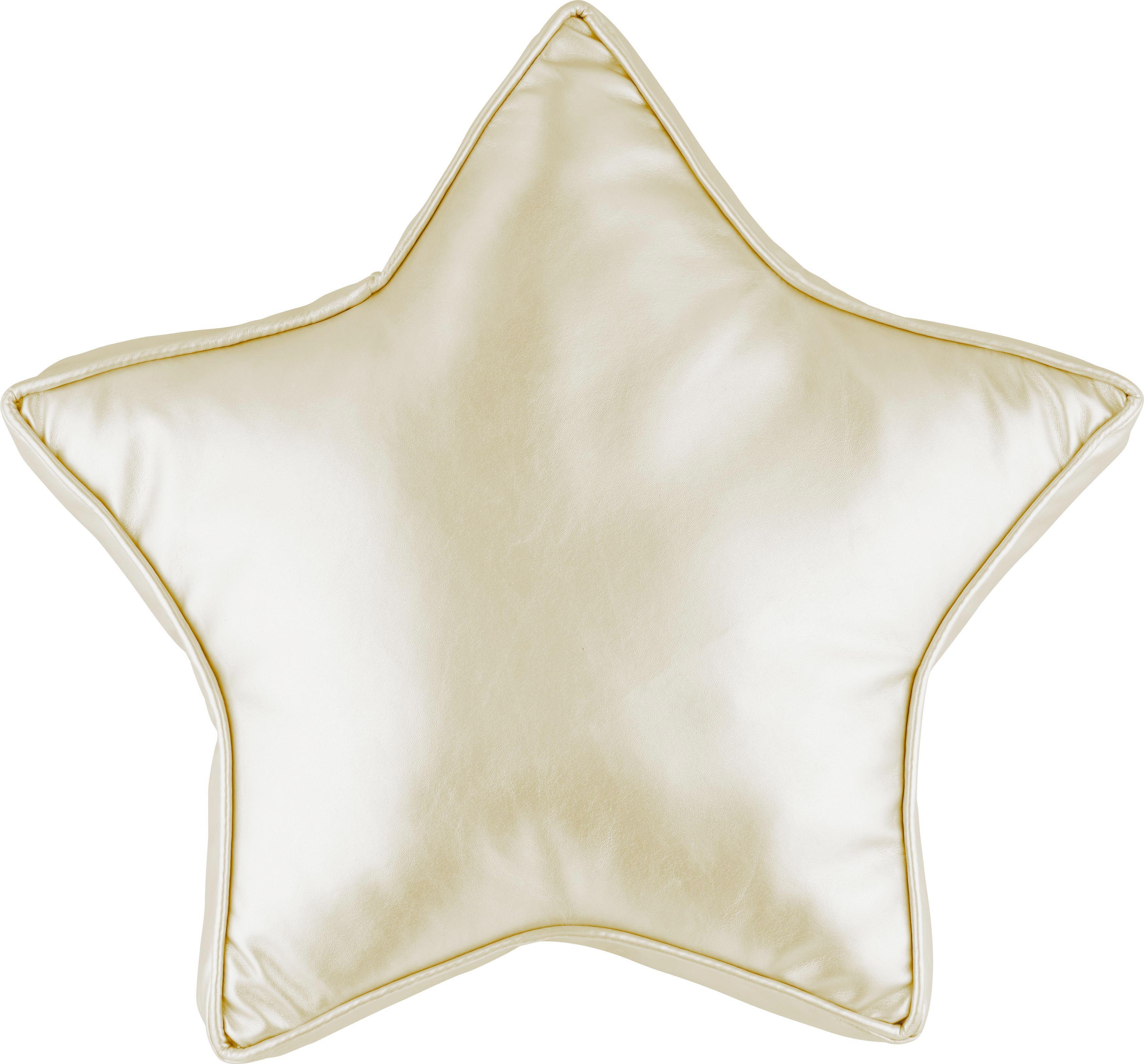 Zierkissen Star in verschiedenen Farben - Silberfarben/Goldfarben, Textil (38/38cm) - MÖMAX modern living