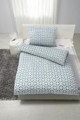Posteljina Dotty - bijela/plava, MODERN, tekstil (140/200cm) - Mömax modern living