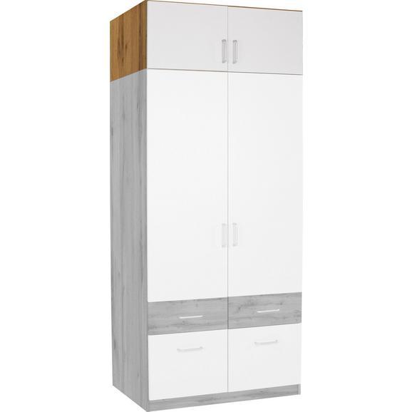 Nastavek Za Omaro Aalen-extra - aluminij/bela, Konvencionalno, umetna masa/leseni material (91/39/54cm) - Mömax modern living