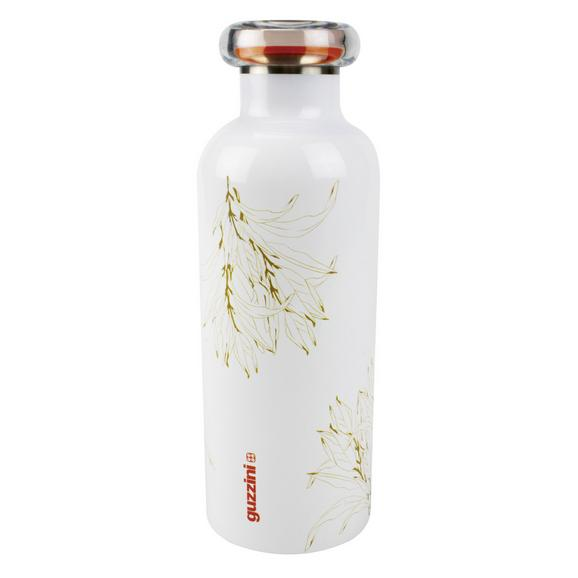 Sticlă Termos Guzzini - alb/auriu, plastic/metal (7,3/21,2cm)