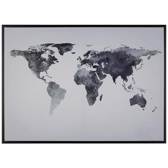 Feszített Vászon Kép Liam - Fehér/Fekete, Faalapú anyag/Műanyag (70/50cm) - Mömax modern living
