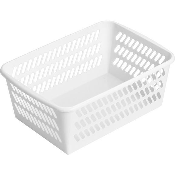 Korb Mimi Weiß - Weiß, Kunststoff (36,5/14,4/25,5cm) - Mömax modern living