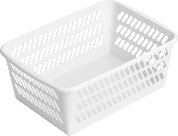 Kosár Mimi - Fehér, Műanyag (36,5/14,4/25,5cm) - Mömax modern living