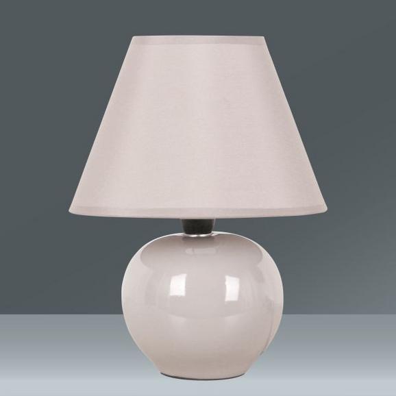 Asztali Lámpa Irma - konvencionális, Üveg/Textil (18/25cm) - Mömax modern living