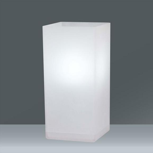 Asztali Lámpa Beni - Fehér, modern, Üveg (10/22/10cm) - Based