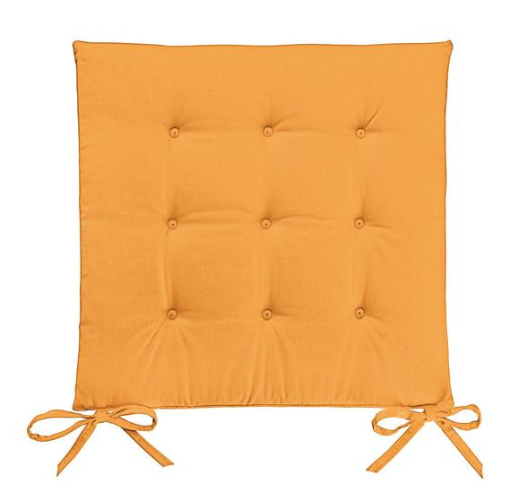 Sitzkissen Lola in Orange, ca. 40x40x2cm - Orange, Textil (40/40/2cm) - Based