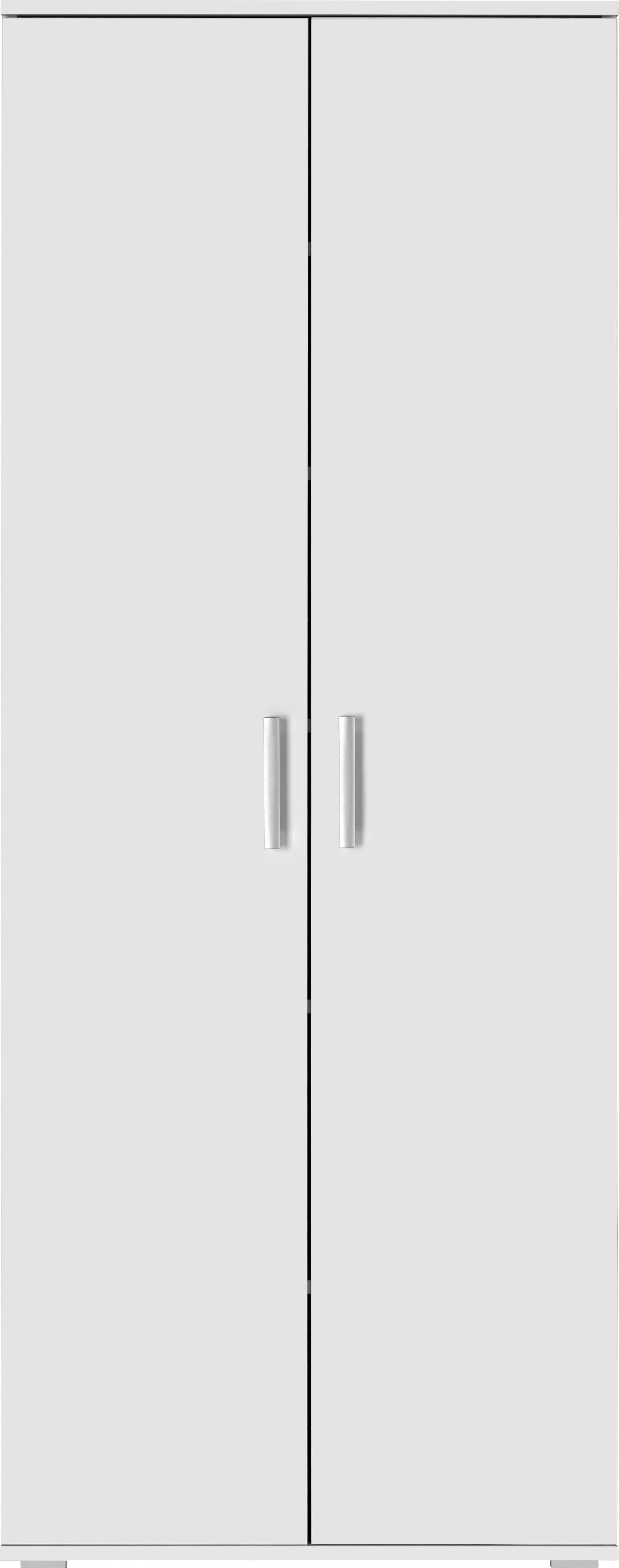 Večnamenska Omara Jimmy - aluminij/bela, Moderno, umetna masa/leseni material (70/179/34cm) - Mömax modern living