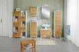 Waschbeckenunterschrank Weiß/Eichefarben - Chromfarben/Eichefarben, MODERN, Holz/Holzwerkstoff (65 53 35cm) - Mömax modern living