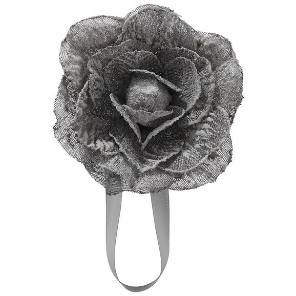 Raffhalter Rose in Anthrazit - Anthrazit, ROMANTIK / LANDHAUS, Textil (11cm) - Mömax modern living