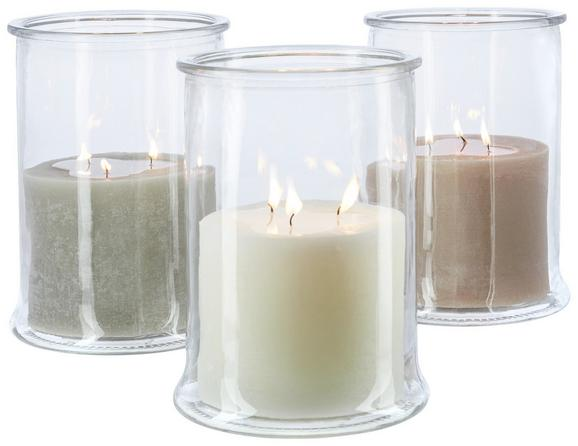 Kerze im Glas Jana in verschiedenen Farben - Klar/Champagner, Glas (19/25cm) - Mömax modern living