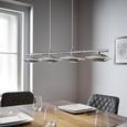 Pendelleuchte Palu mit Led 4-flammig - Chromfarben, Glas/Metall (90/16,5/120cm) - Premium Living