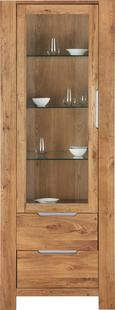 Vitrine Riva - Eichefarben, MODERN, Glas/Holz (71/191/40cm) - PREMIUM LIVING