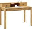 Schreibtisch Eichefarben - Eichefarben/Schwarz, Holz/Metall (120/92/65cm) - Premium Living