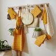 Topflappen und Handschuh Honeycomb aus Baumwolle - Gelb/Weiß, LIFESTYLE, Textil (18/32cm) - Mömax modern living