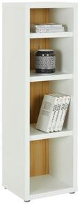 Regal Weiß/Eichefarben - Eichefarben/Weiß, MODERN, Holzwerkstoff/Kunststoff (41/133,6/37cm)