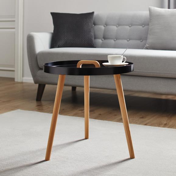 Couchtisch Lia Ø ca. 49,5 cm - Schwarz/Pinienfarben, MODERN, Holz (49,5/49,5cm) - Mömax modern living