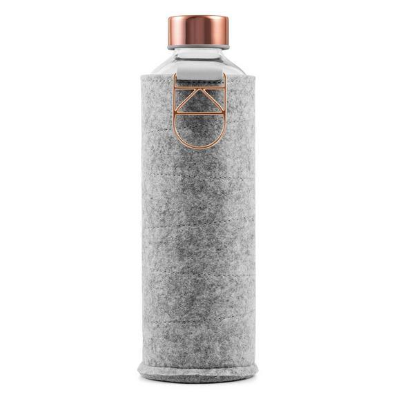 Trinkflasche Equa ca. 0,75l - Klar/Kupferfarben, Glas (0,75l)