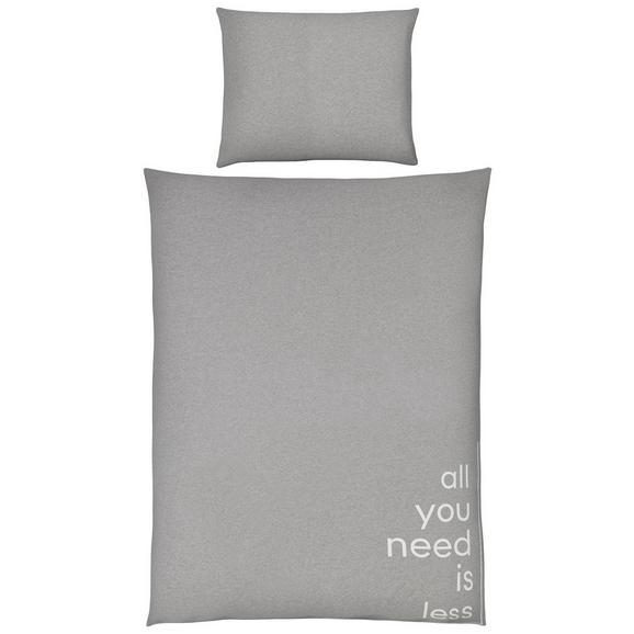 Bettwäsche Jersey words Grau 140x200cm - Grau, MODERN, Textil (140/200cm) - Premium Living