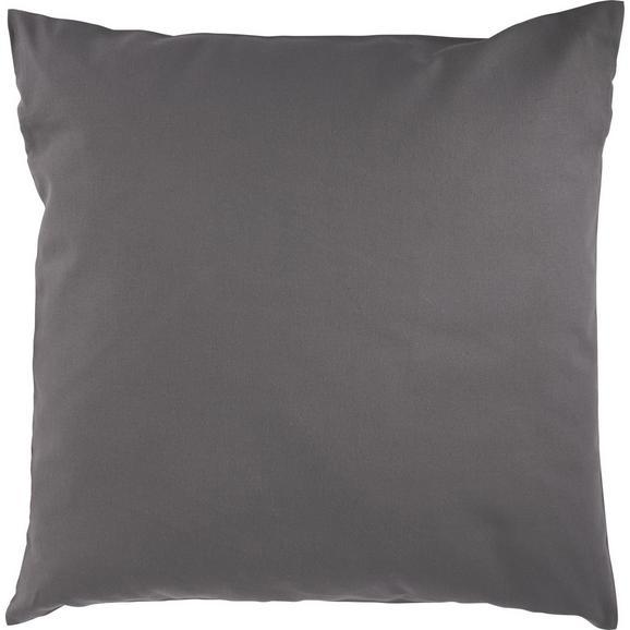 Zierkissen Zippmex Anthrazit ca. 50x50cm - Anthrazit, Textil (50/50cm) - Based